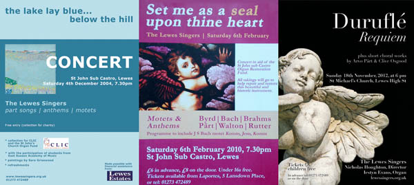 Lewes Singers concert posters