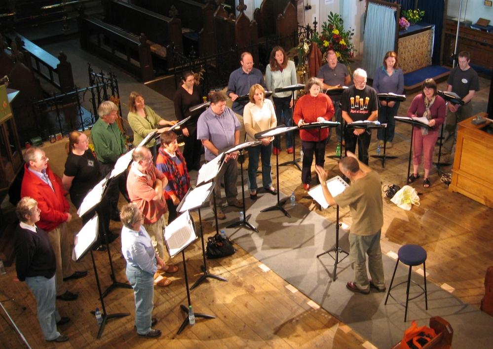 Lewes Singers in rehearsal