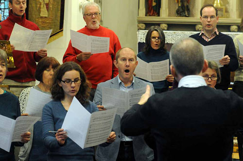 in rehearsal - the Lewes Singers