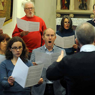 The Lewes Singers rehearsal