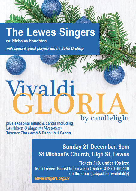 Lewes Singers concert poster Dec 21 2014