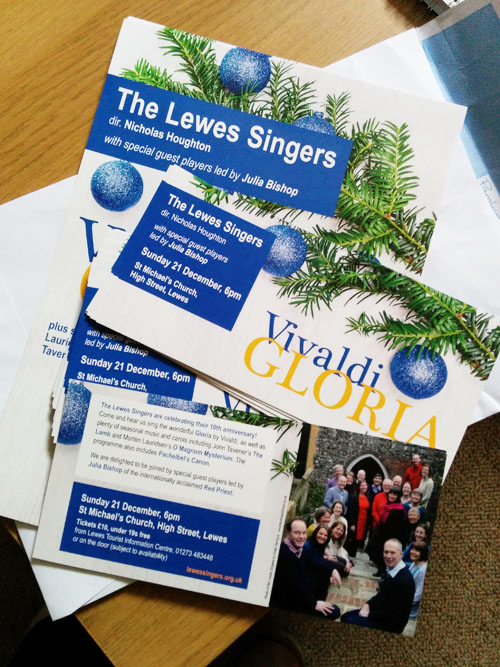 Posters & flyers for Christmas concert