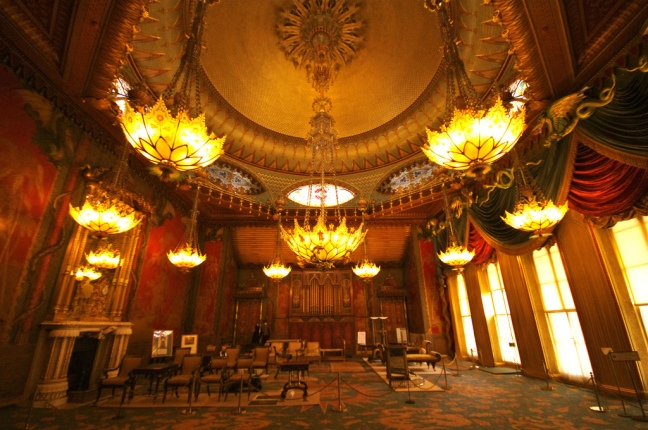 The music room at The Royal Pavilion, Brighton