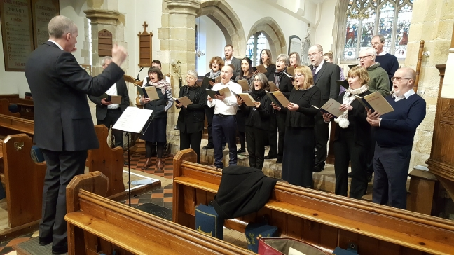 Lewes Singers rehearse in Ringmer Church